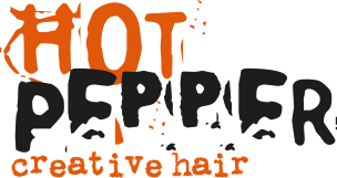 Hot pepper hair logo