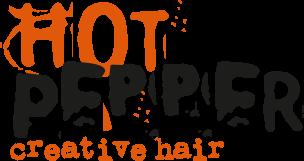 Hot pepper hair logo